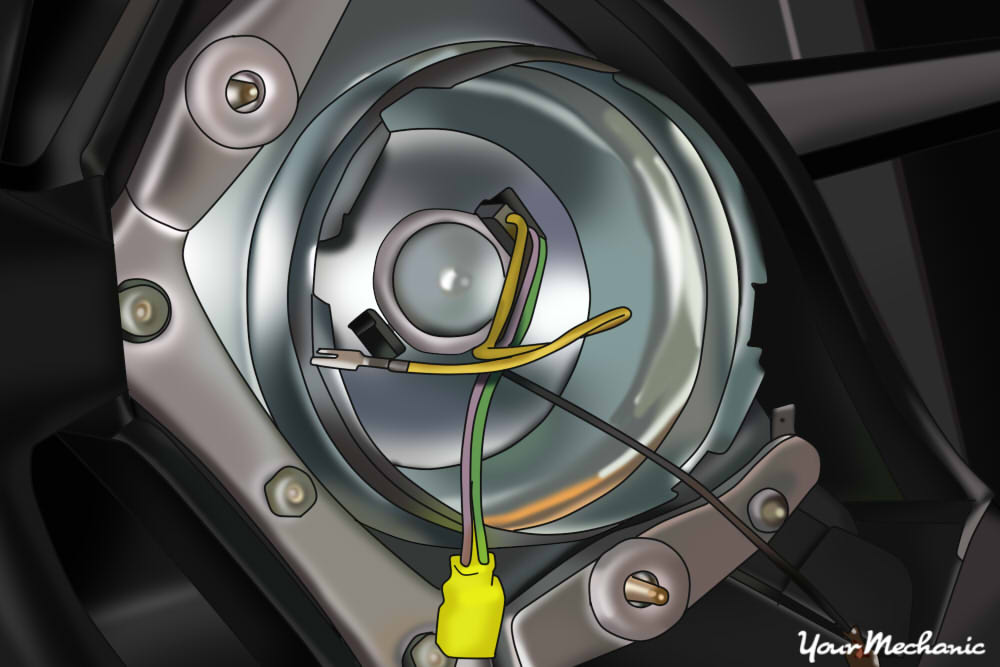 removing yellow wire for airbag