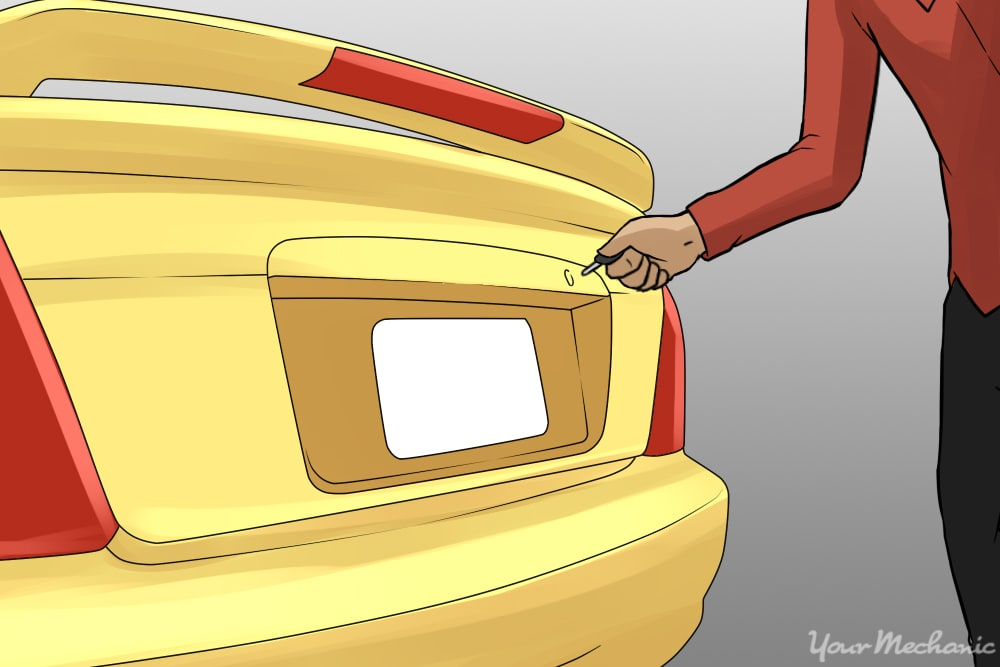 manually locking car door from the outside