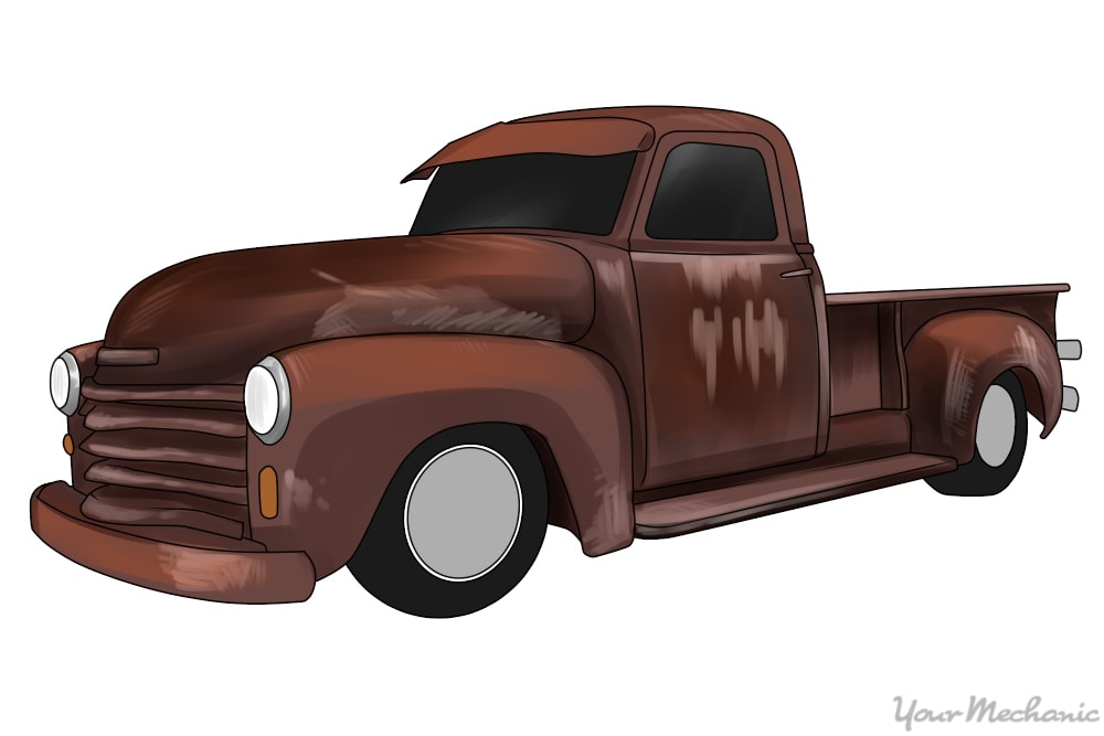 old rusted chevy