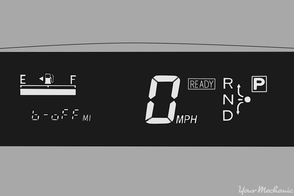 """Toyota Prius odometer displaying """"b off"""""""