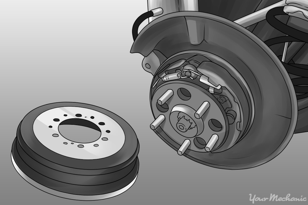 disc brakes with a drum parking brake system