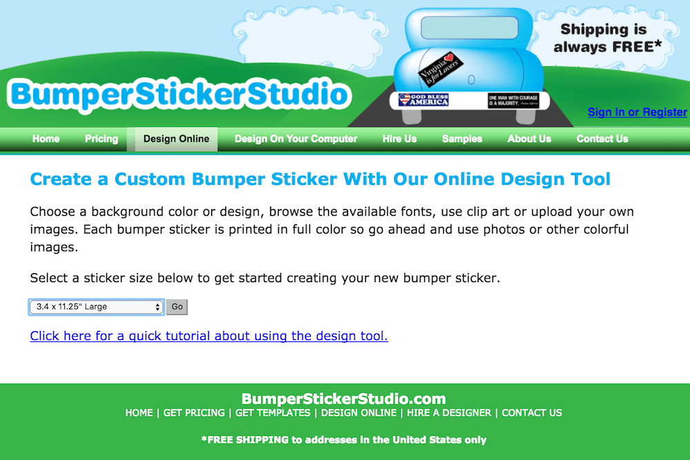 bumper sticker site