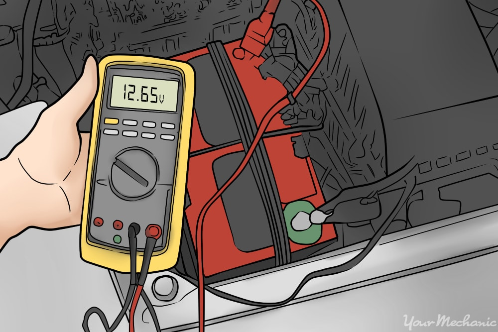 voltage meter reading 12.65 volts