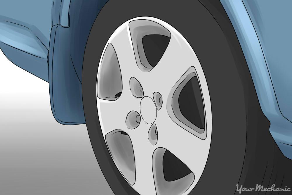 hazy white circles on wheel