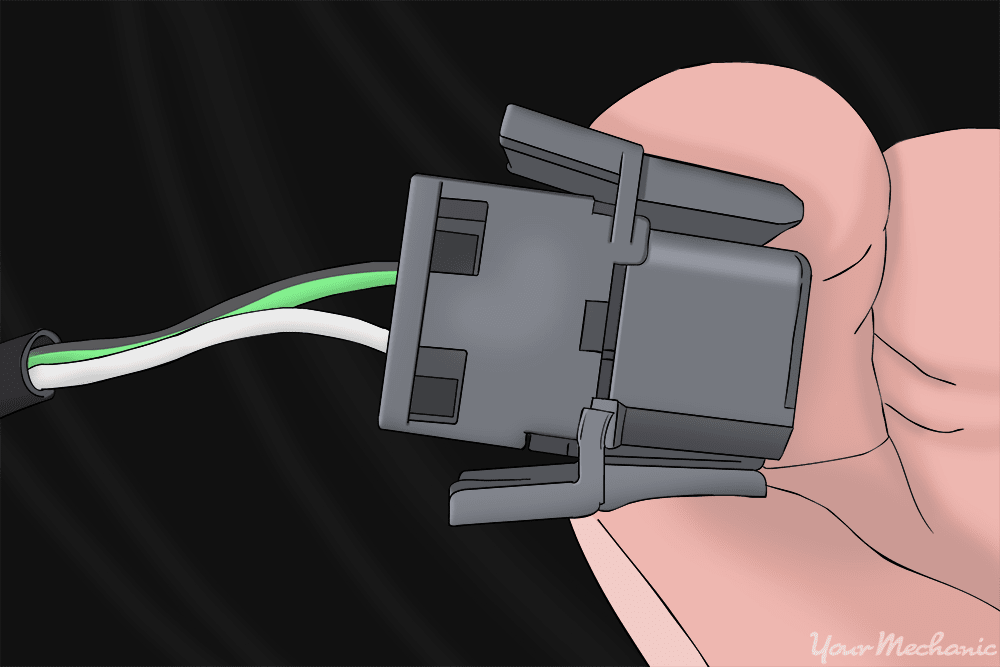 close up of wiring connector