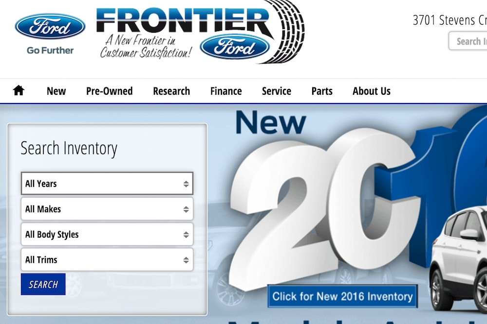 dealership inventory search