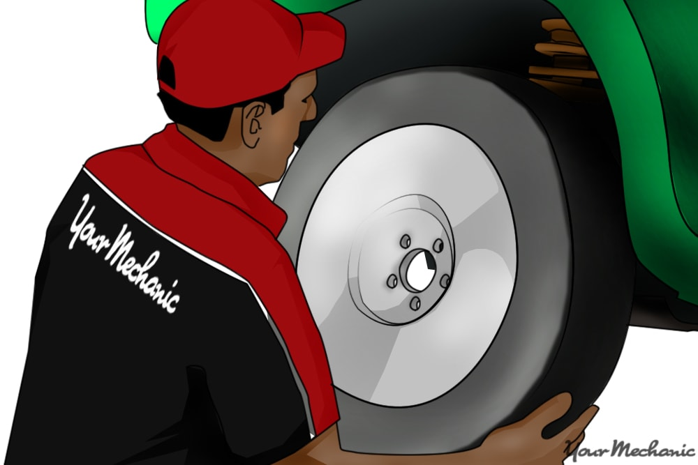 person installing wheel back