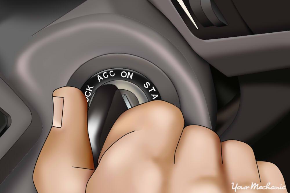 turning car on
