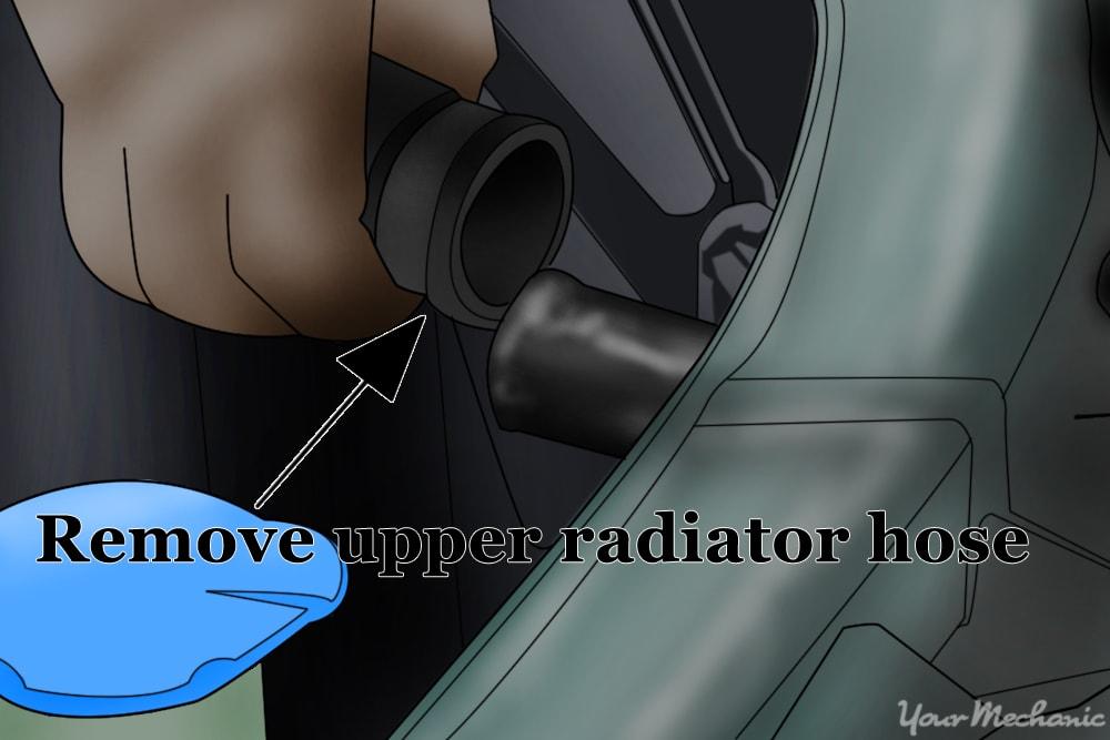 removing the upper radiator hose