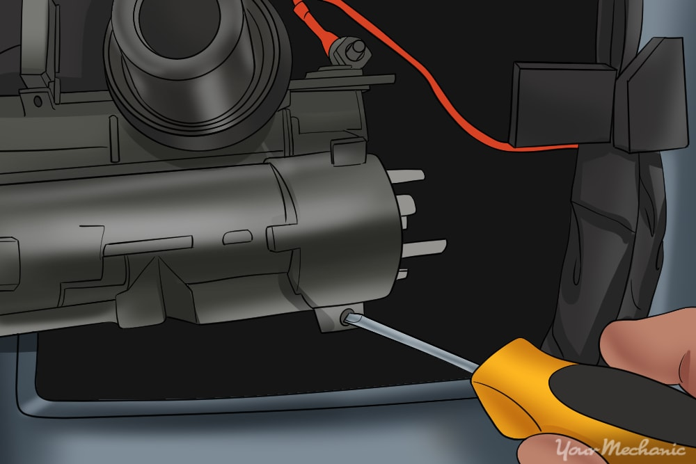 removing the ignition relay from the steering column