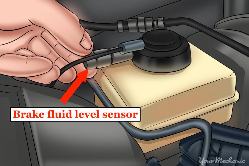 mechanic reinstalling a fluid level sensor