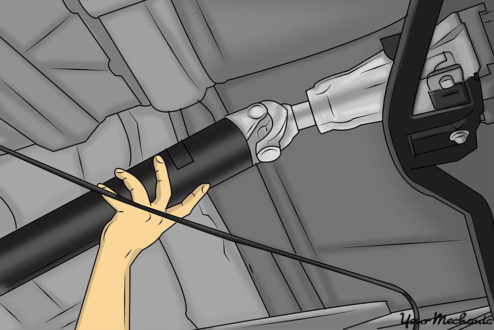 hand spinning driveshaft