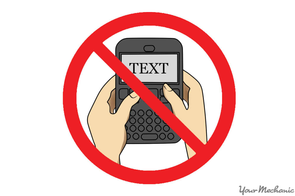 hand texting using
