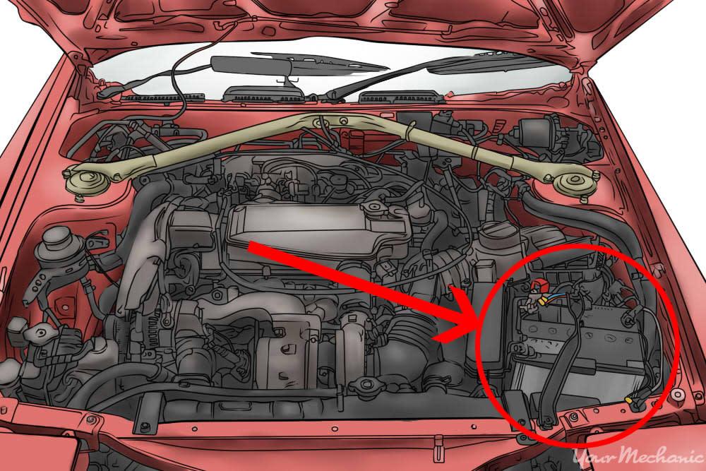 car battery visible