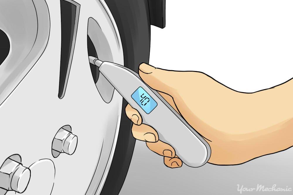 tire pressure reading