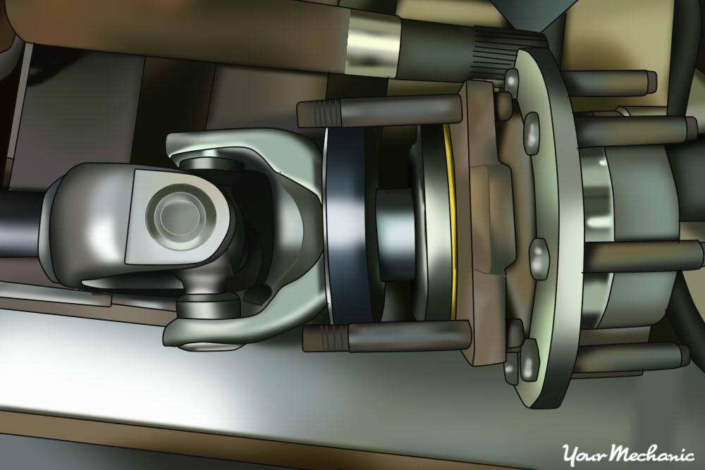 front wheel u-joint