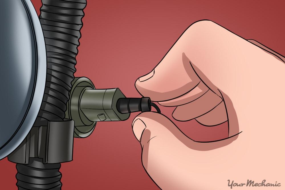 hand installing the new sensor