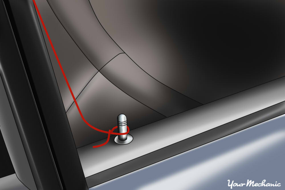 loop aorund door lock button