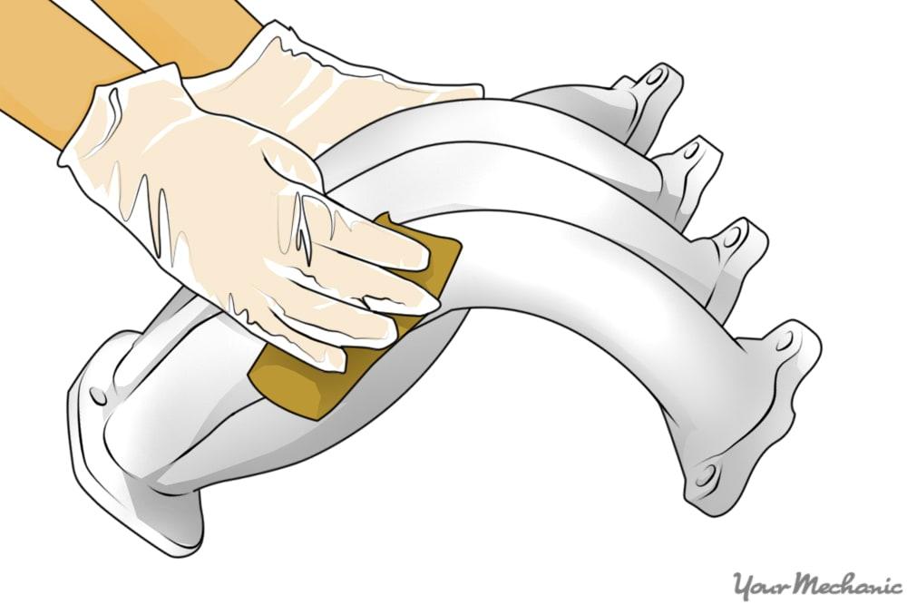 dry sanding exhaust