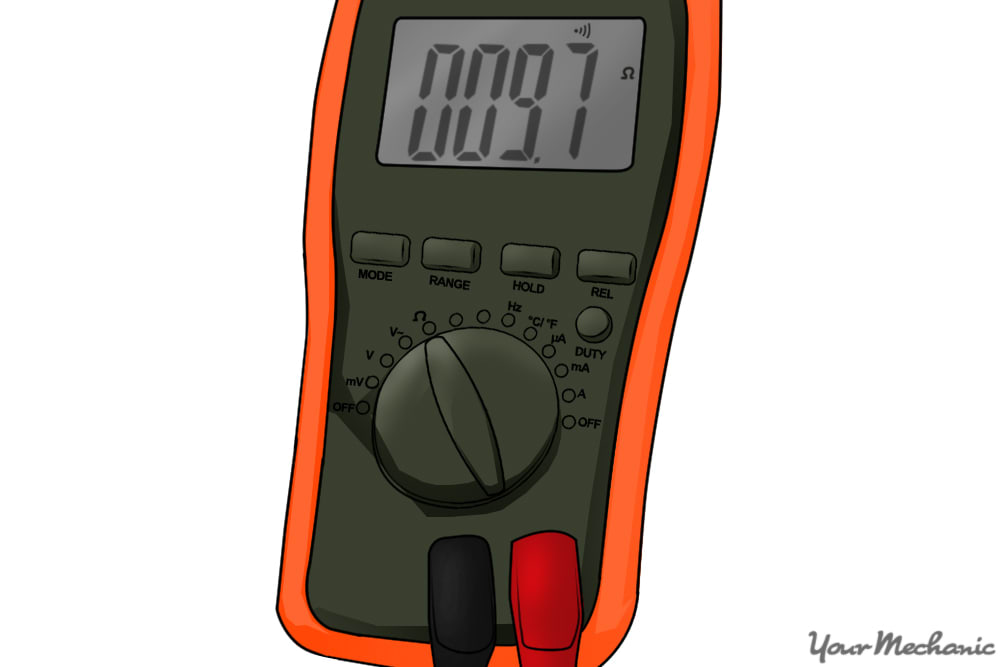 picture of multimeter indicating resistance value