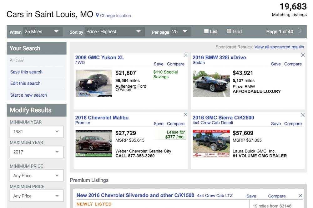 civic car listing