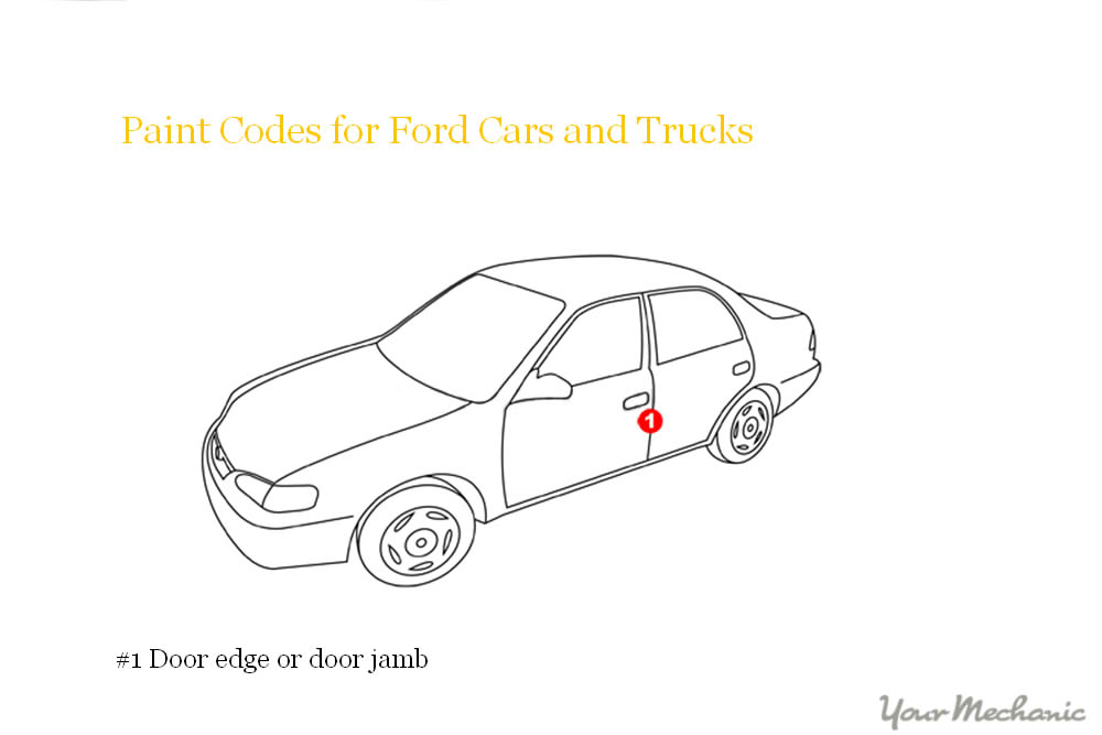 ford paint code