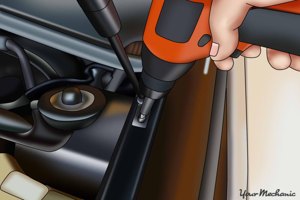 hand tightening down fasteners