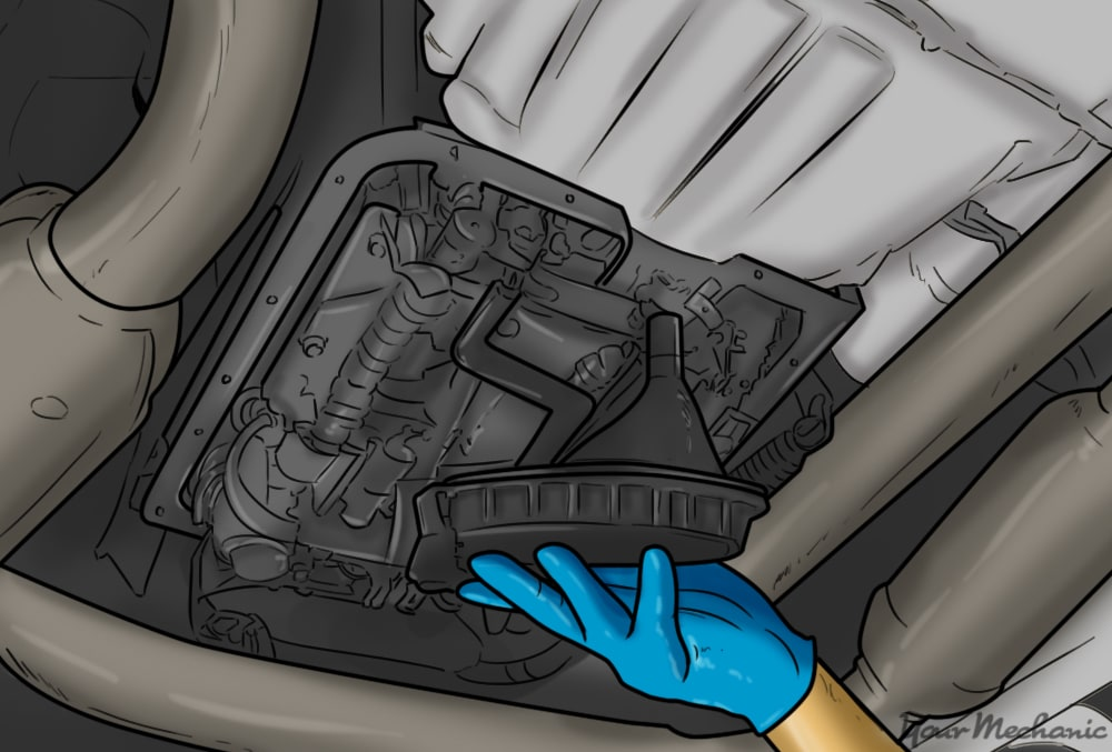 installing the transmission filter
