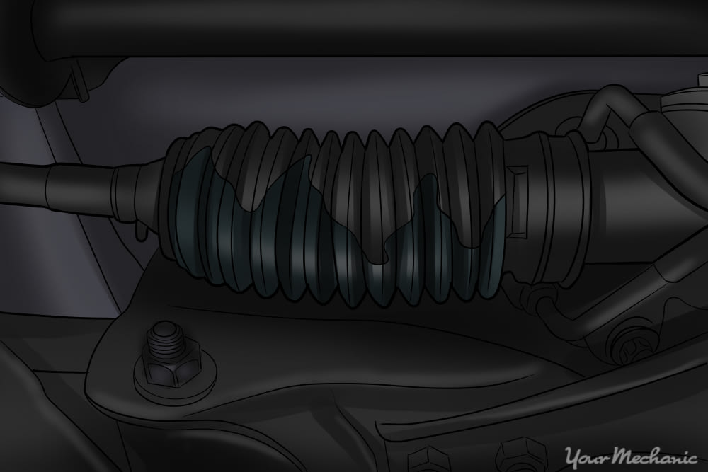 leaking rack and pinion boot