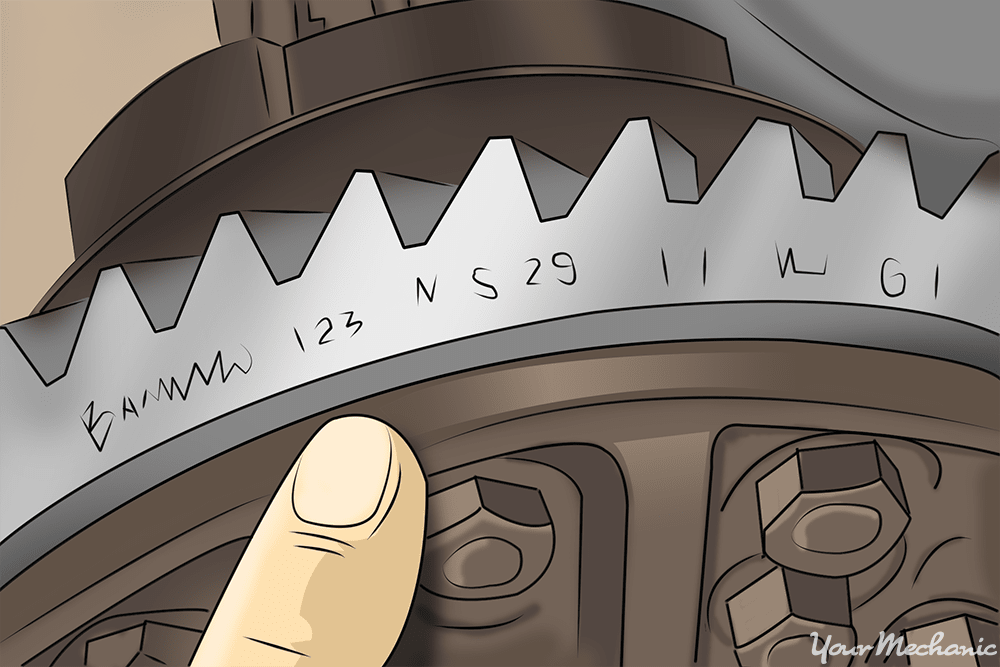 numbers stamped on ring gears