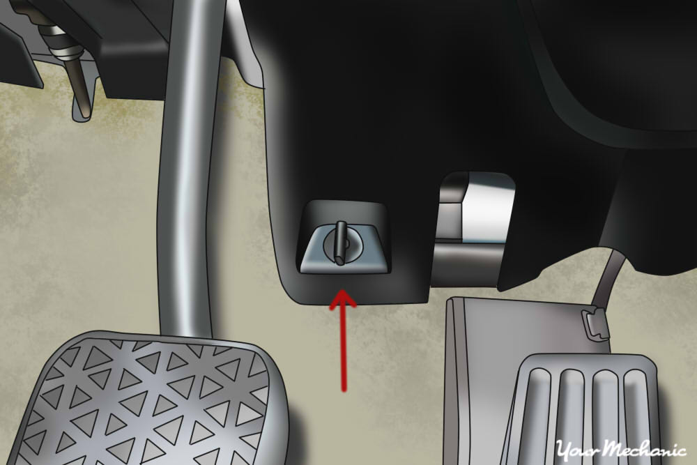 close up of brake switch