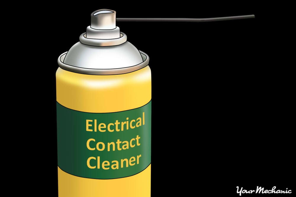 electrical cleaner spraying