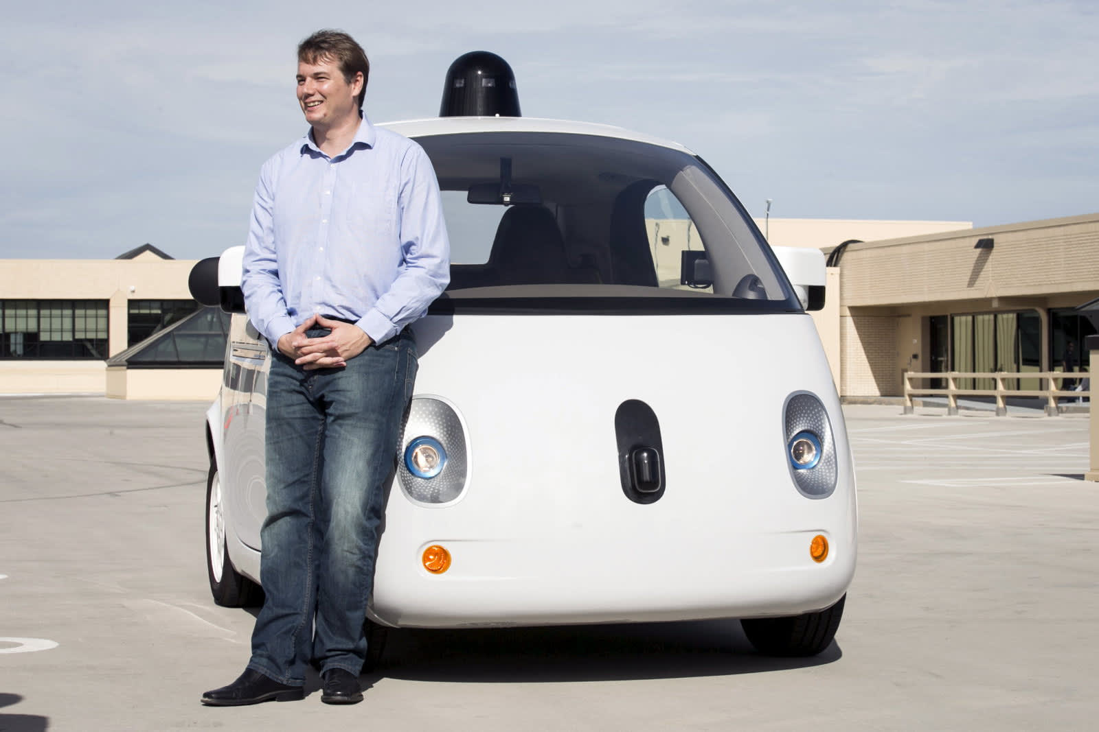 Chris Urmson with Google self driving car