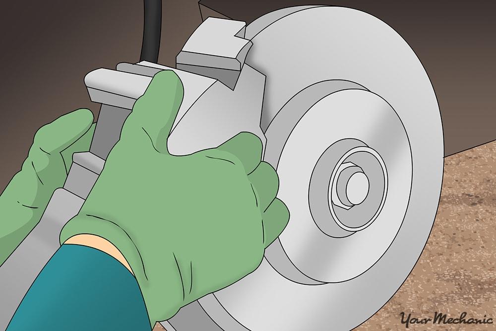 removing the caliper