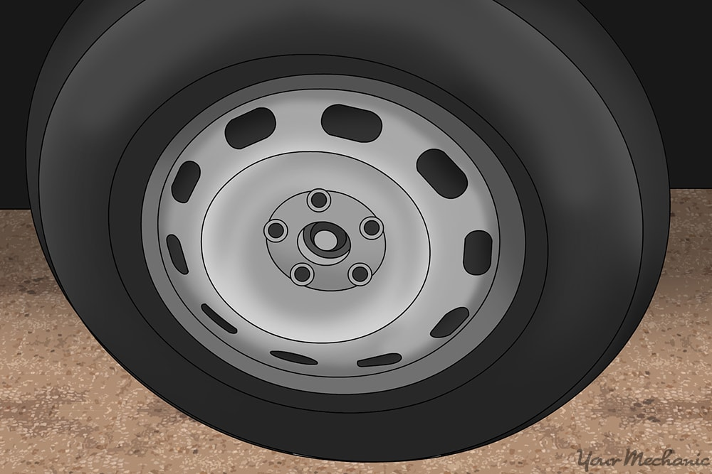 spare tire without lug nuts