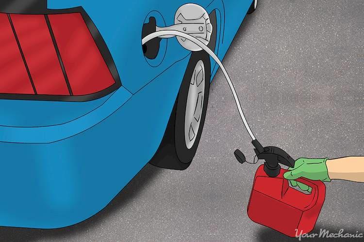 fluid pump to siphon gas