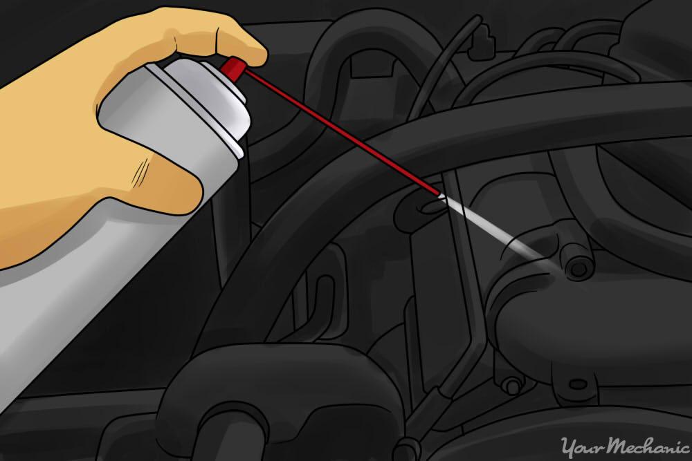 brake cleaner spray checking for vacuum leaks