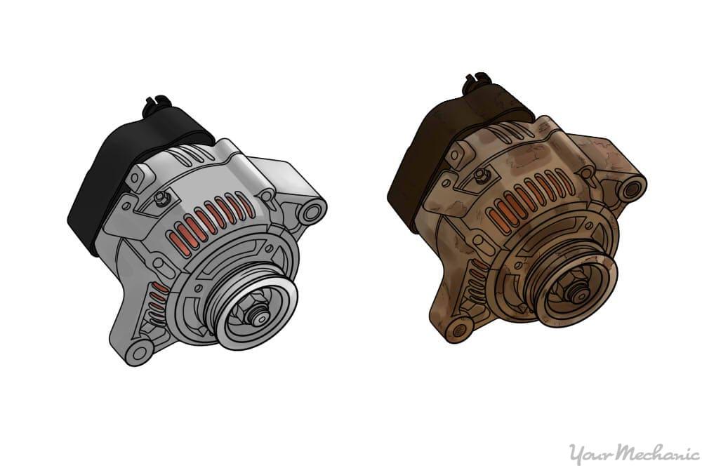 old alternator and new alternator