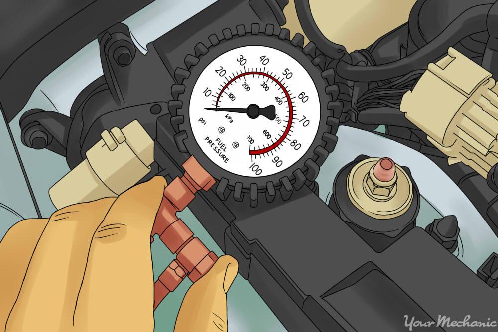 pressure gauge testing fuel pressure
