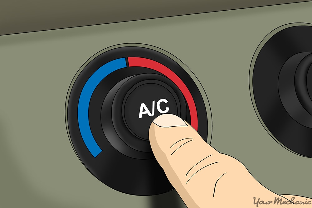 close up of person turning on their air conditioning