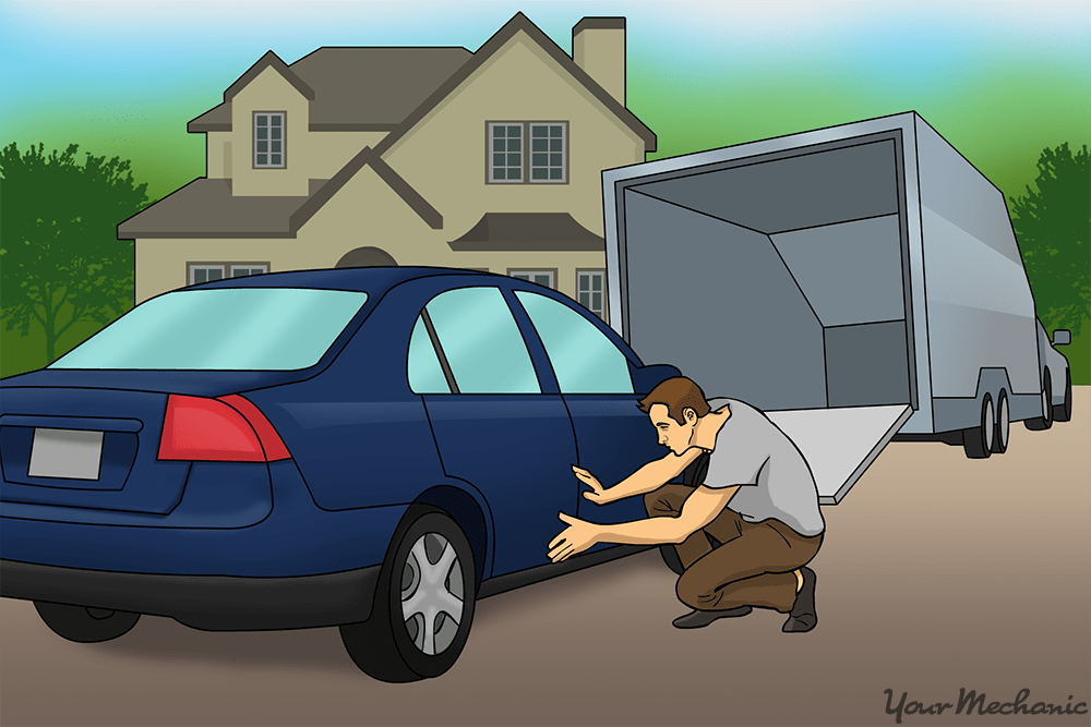 buyer inspecting the car upon arrival