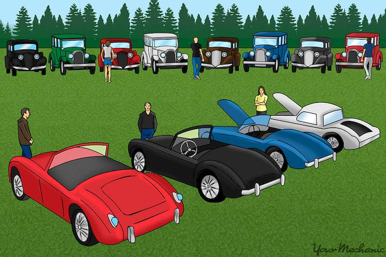cars parked in