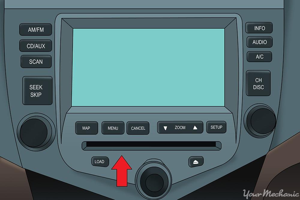 disc drive under display screen