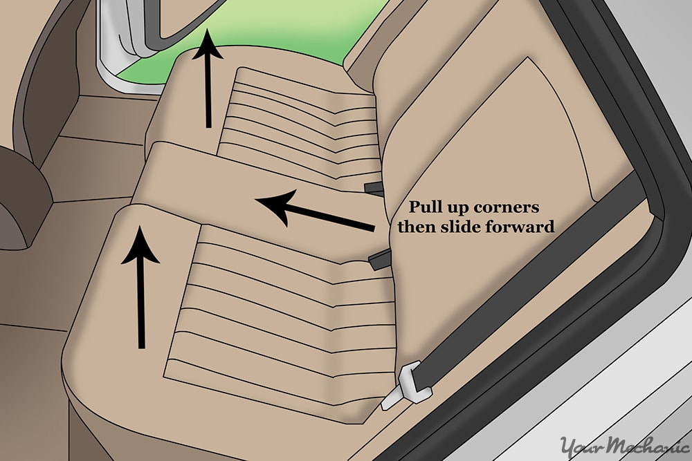 diagram for removing seat  cushions