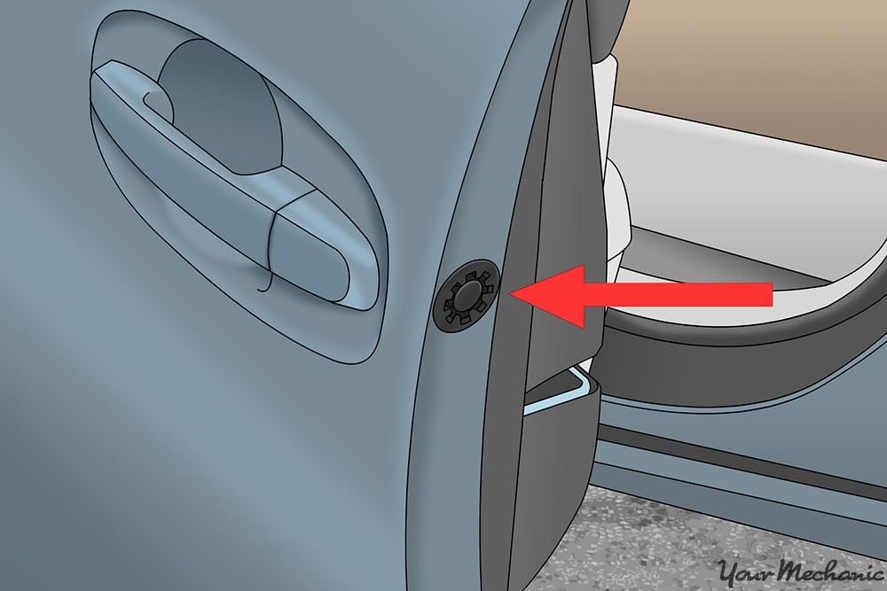 where to manually lock a door from the side