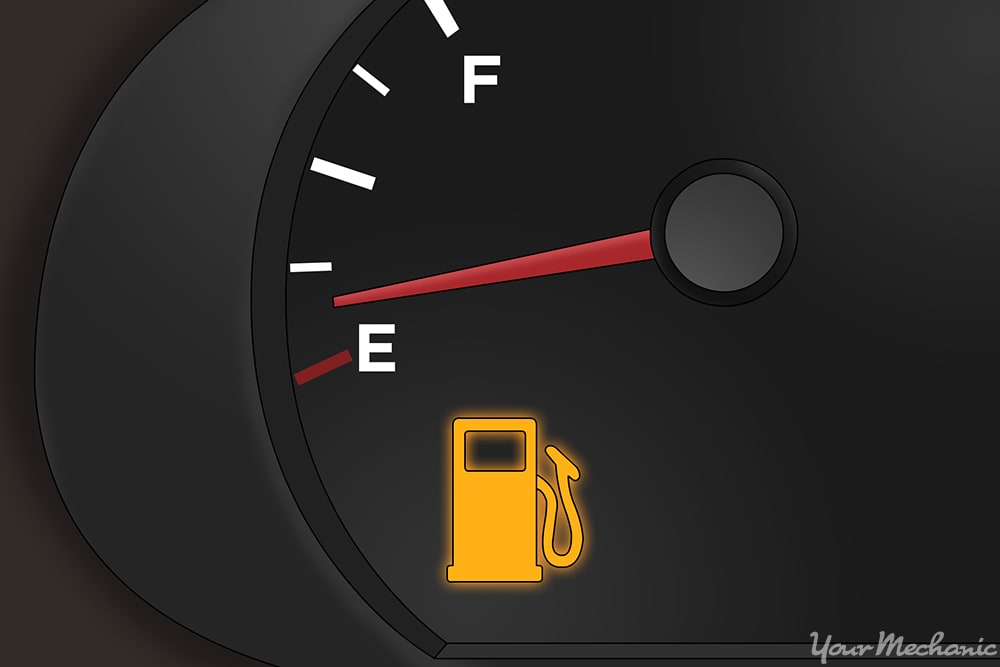 fuel gauge with indicator light