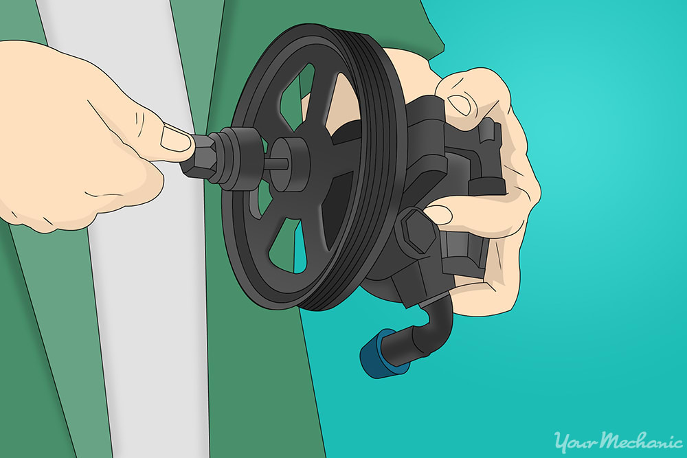 How to Replace a Power Steering Pump Pulley 8