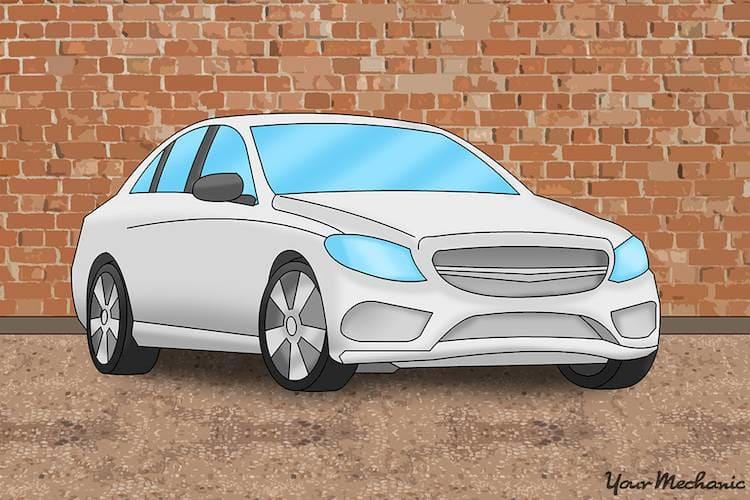 vehicle on level surface