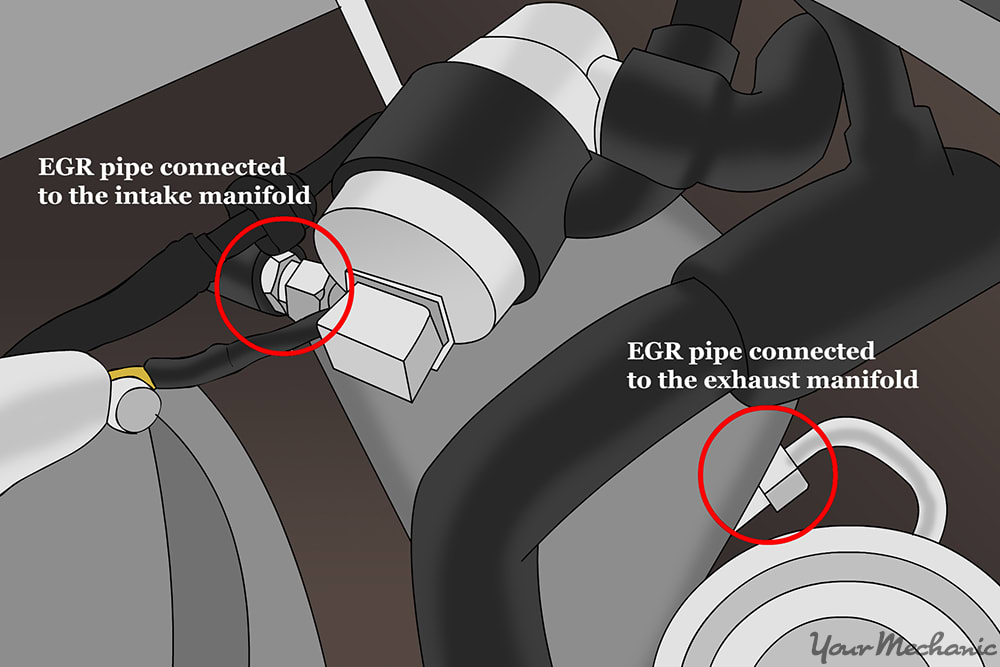 egr valve and intake manifold may be located