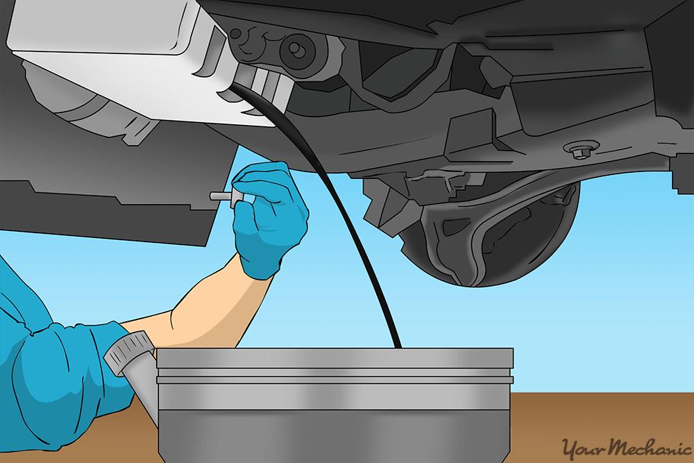 oil pan beneatch vehicle